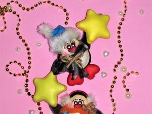Изготавливаем новогодних пингвинов из фоамирана. Ярмарка Мастеров - ручная работа, handmade.