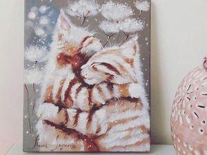 Уютные коты: большая скидка на принты!. Ярмарка Мастеров - ручная работа, handmade.