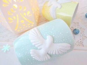 Декорируем кружки с помощью полимерной глины: «Белоснежные горлицы». Ярмарка Мастеров - ручная работа, handmade.