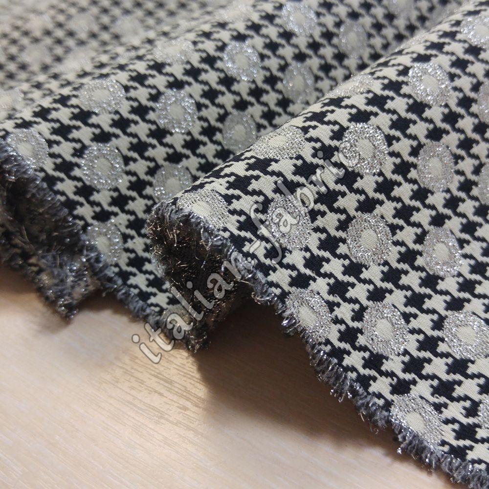ткани италии, жаккардовая ткань, серебро