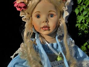 Садовая розочка - фарфоровая кукла | Ярмарка Мастеров - ручная работа, handmade