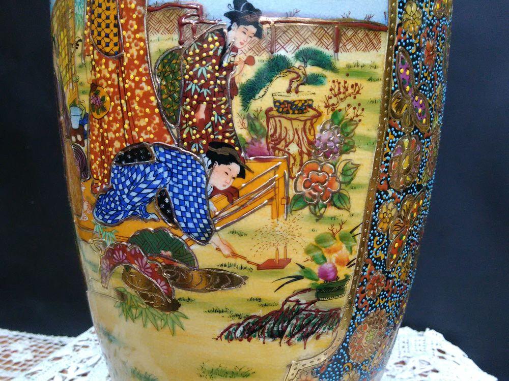 ваза декоративная, ручная роспись фарфора