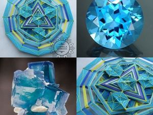"Мандала -кристалл ""Голубой топаз"". Ярмарка Мастеров - ручная работа, handmade."