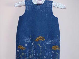 Аукцион на детское платье с луговыми травами!!! Старт 1000 р.!!!. Ярмарка Мастеров - ручная работа, handmade.