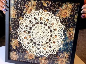 Необычное применение вязаных салфеток в интерьере. Ярмарка Мастеров - ручная работа, handmade.