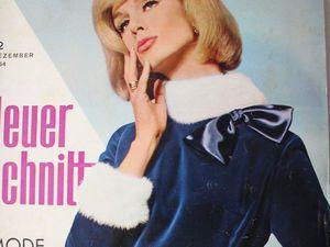 Neuer Schnitt — старый немецкий журнал мод 12/1964. Ярмарка Мастеров - ручная работа, handmade.