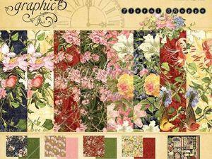 Набор бумаги  Graphic 45 -Цветочный магазин  30х30. Ярмарка Мастеров - ручная работа, handmade.