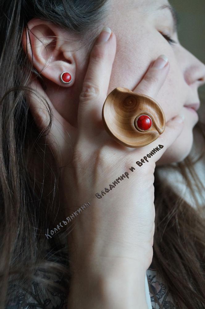комплект украшений, радость, пуссеты, кольцо