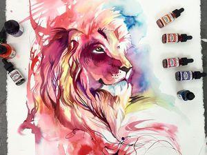 Волшебные животные в акварельных иллюстрациях Katy Lipscomb. Ярмарка Мастеров - ручная работа, handmade.