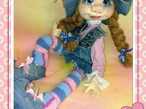 текстильная кукла ПЕППИ. Ярмарка Мастеров - ручная работа, handmade.