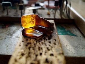 Как обработать природный янтарь. Ярмарка Мастеров - ручная работа, handmade.
