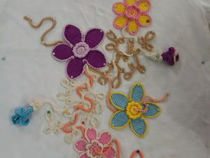 Вяжем цветочную композицию для ирландского кружева. Ярмарка Мастеров - ручная работа, handmade.
