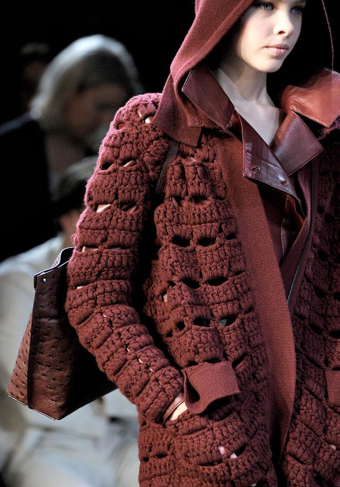 Модное вязание из толстой пряжи 60
