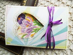 Аукцион на лидеры просмотров. Подарки к праздникам с ручною вышивкой крестом.. Ярмарка Мастеров - ручная работа, handmade.