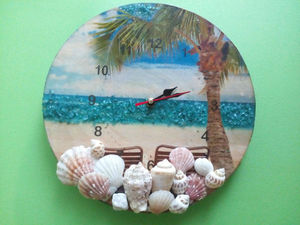 Пляжные настенные часы своими руками. Ярмарка Мастеров - ручная работа, handmade.