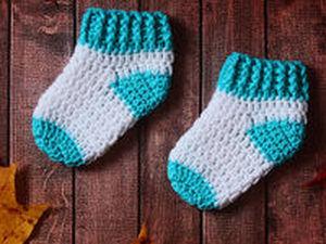 Видеоурок: вяжем крючком носочки для новорожденных. Ярмарка Мастеров - ручная работа, handmade.