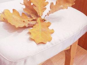 Шьем чехол на табурет из остатков портьеры. Ярмарка Мастеров - ручная работа, handmade.