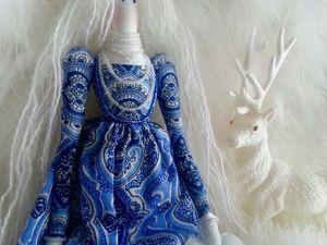 Видео - Тильда в образе богини Зимы. Ярмарка Мастеров - ручная работа, handmade.