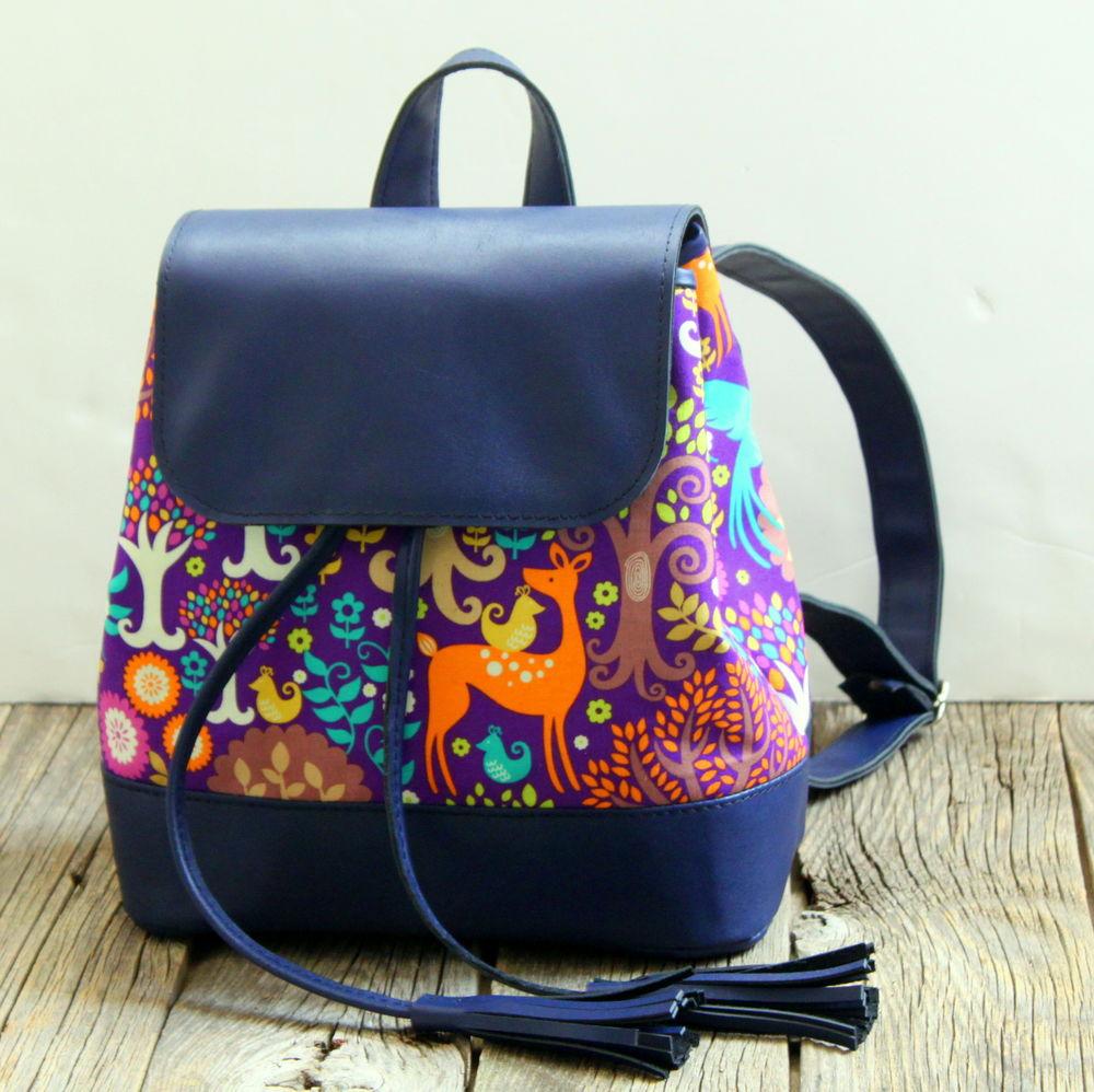 кожаный рюкзак, маленький рюкзак