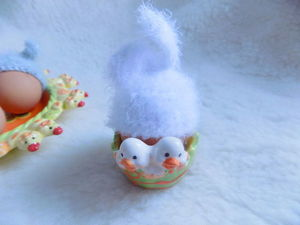 Пасхальные шапочки для яиц в виде зайчиков)))). Ярмарка Мастеров - ручная работа, handmade.