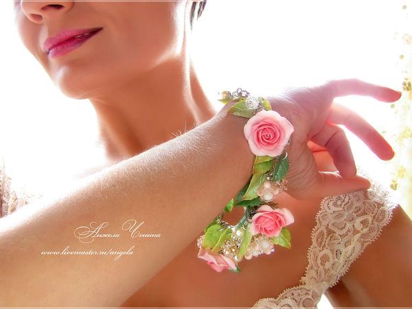 Весенний цветочный браслет: 15 новых фото | Ярмарка Мастеров - ручная работа, handmade
