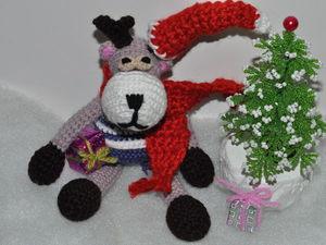 Как связать милого новогоднего оленя. Ярмарка Мастеров - ручная работа, handmade.