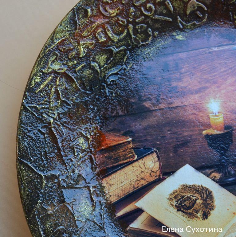 интерьерная тарелка, мудрая сова