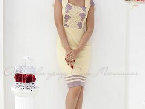 Аукцион на летнее вязаное платьице из вискозы! Старт 2000 р. !. Ярмарка Мастеров - ручная работа, handmade.