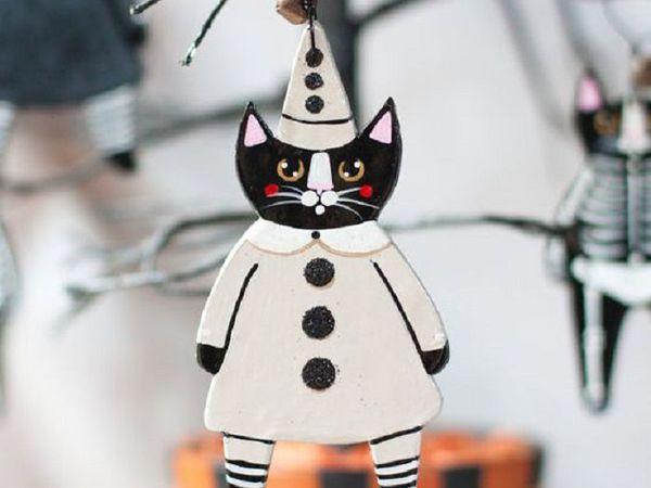 Какая может быть елка, если в доме кошка? Конечно, керамическая! | Ярмарка Мастеров - ручная работа, handmade