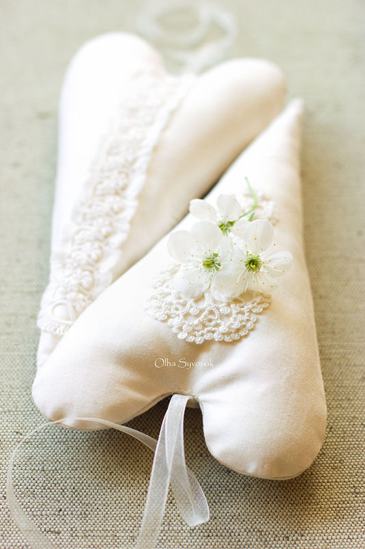 кружево ручной работы, декор для свадьбы, валентинка
