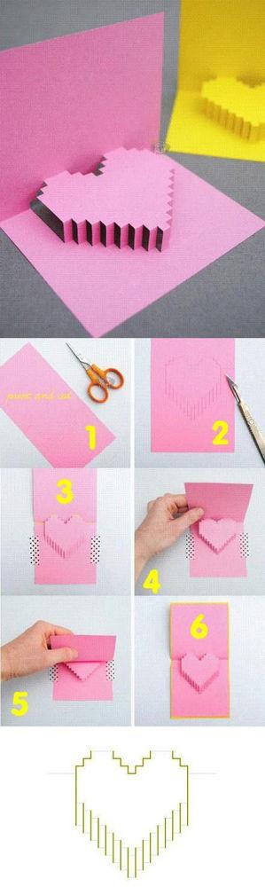 Сердечко открытка из бумаги
