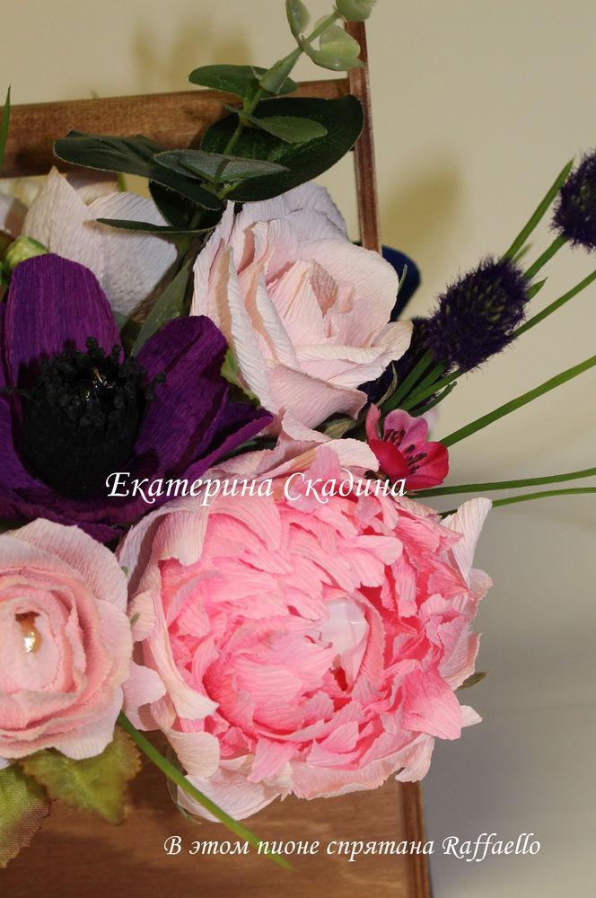цветы из конфет