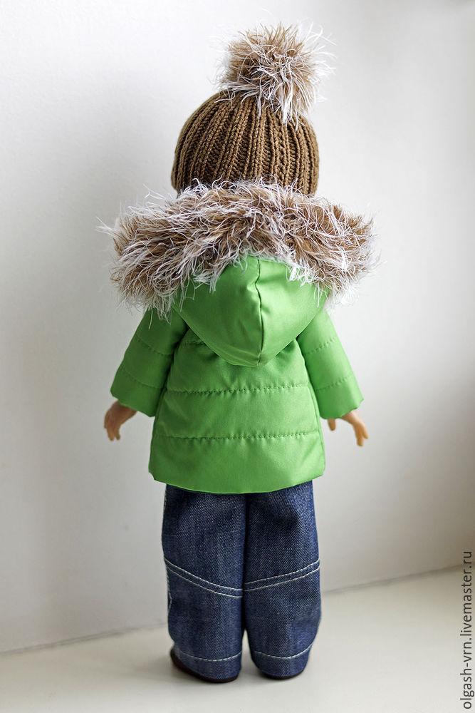 пуховик для куклы, одежда для паолки