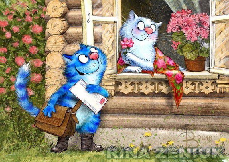 иллюстратор, синий цвет