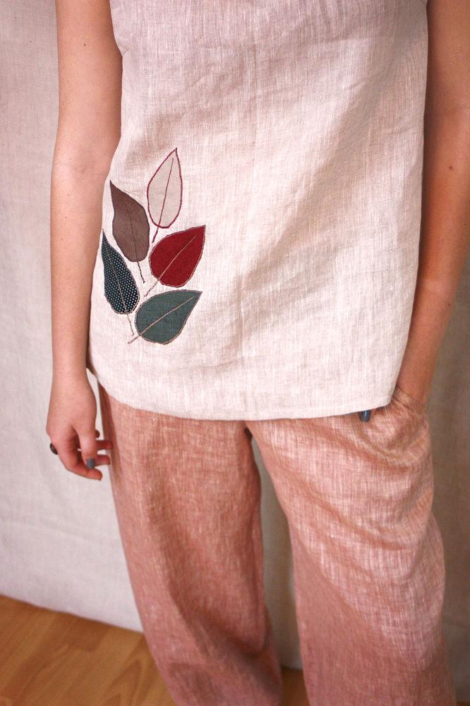 льняные брюки, linen pants
