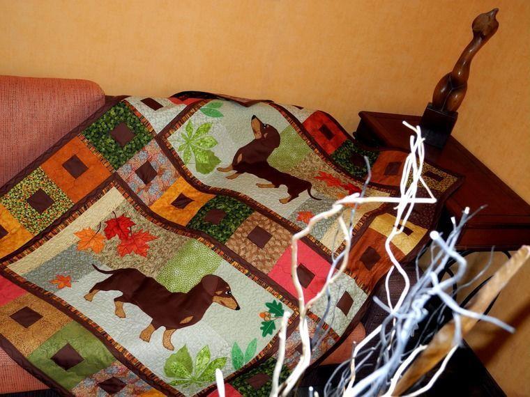 кровать, мальчик, коричневый, покрывало пэчворк