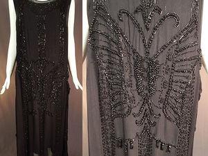 Вечернее платье стиля Арт-Деко 1920-х годов с вышивкой бисером. Ярмарка Мастеров - ручная работа, handmade.