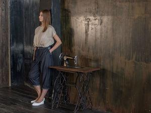YOKU LOOK: льняная блуза оверсайз и брюки оверсайз из шамбре. Ярмарка Мастеров - ручная работа, handmade.