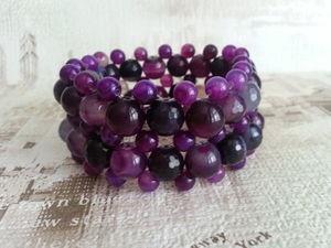 Видеообзор - фиолетовые браслеты из Агата. Ярмарка Мастеров - ручная работа, handmade.