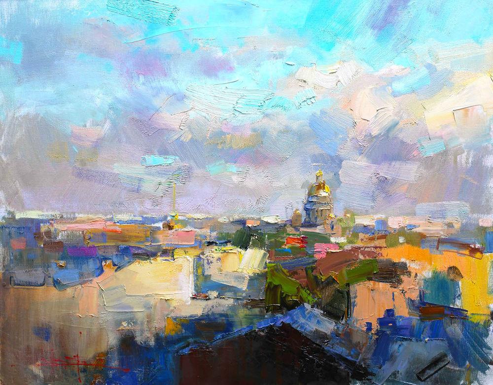 Konstantin Sukhopluev: Artist Painting Rain, фото № 31
