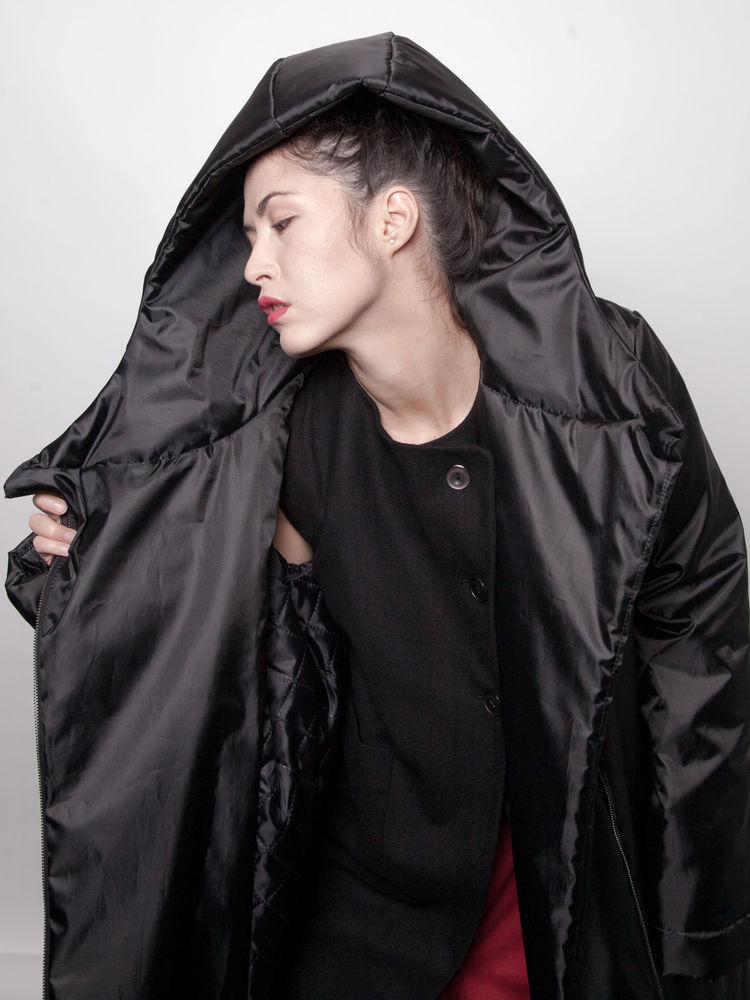 черное платье, пальто