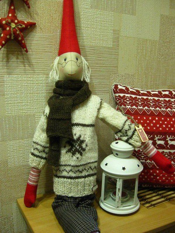 новый год, кукла текстильная, пряжа шерсть, куклы майлег, теплые подарки