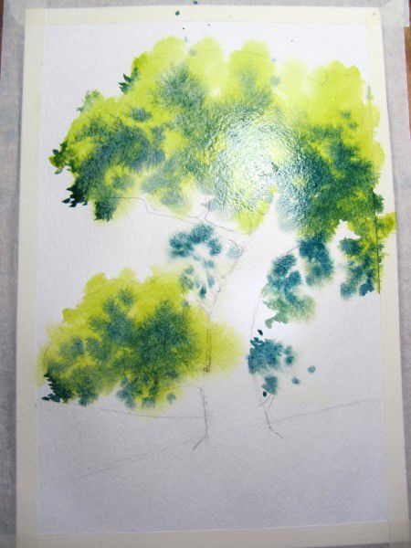 Как нарисовать дерево акварелью, фото № 7