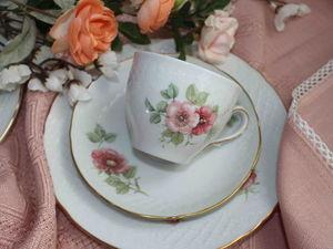 """""""Когда цветет шиповик...."""" Чайный сервиз Carl Schumann. Ярмарка Мастеров - ручная работа, handmade."""