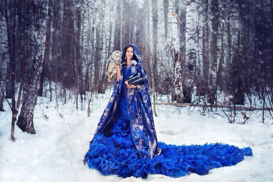 зима, магия, волшебство, ведунья, зимнее волшебство, зимняя магия, природа