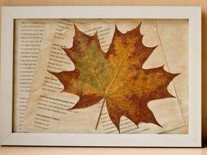 Все гениальное просто, или Осеннее украшение для интерьера быстро, бюджетно, красиво!. Ярмарка Мастеров - ручная работа, handmade.