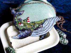 """Детали создания кулона """"Чудо-Кит"""". Ярмарка Мастеров - ручная работа, handmade."""
