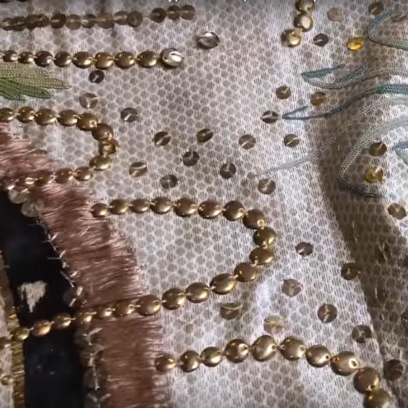 Свадебный шарф с вышивкой из коллекции Эрмитажа