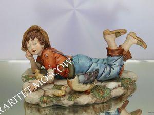 Мальчик утка птица фарфор Каподимонте Италия 22. Ярмарка Мастеров - ручная работа, handmade.