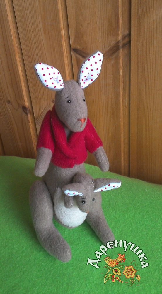 кенгуру, текстильная игрушка, мягкая игрушка, тильда, мама и малыш, интерьерная игрушка, подарок